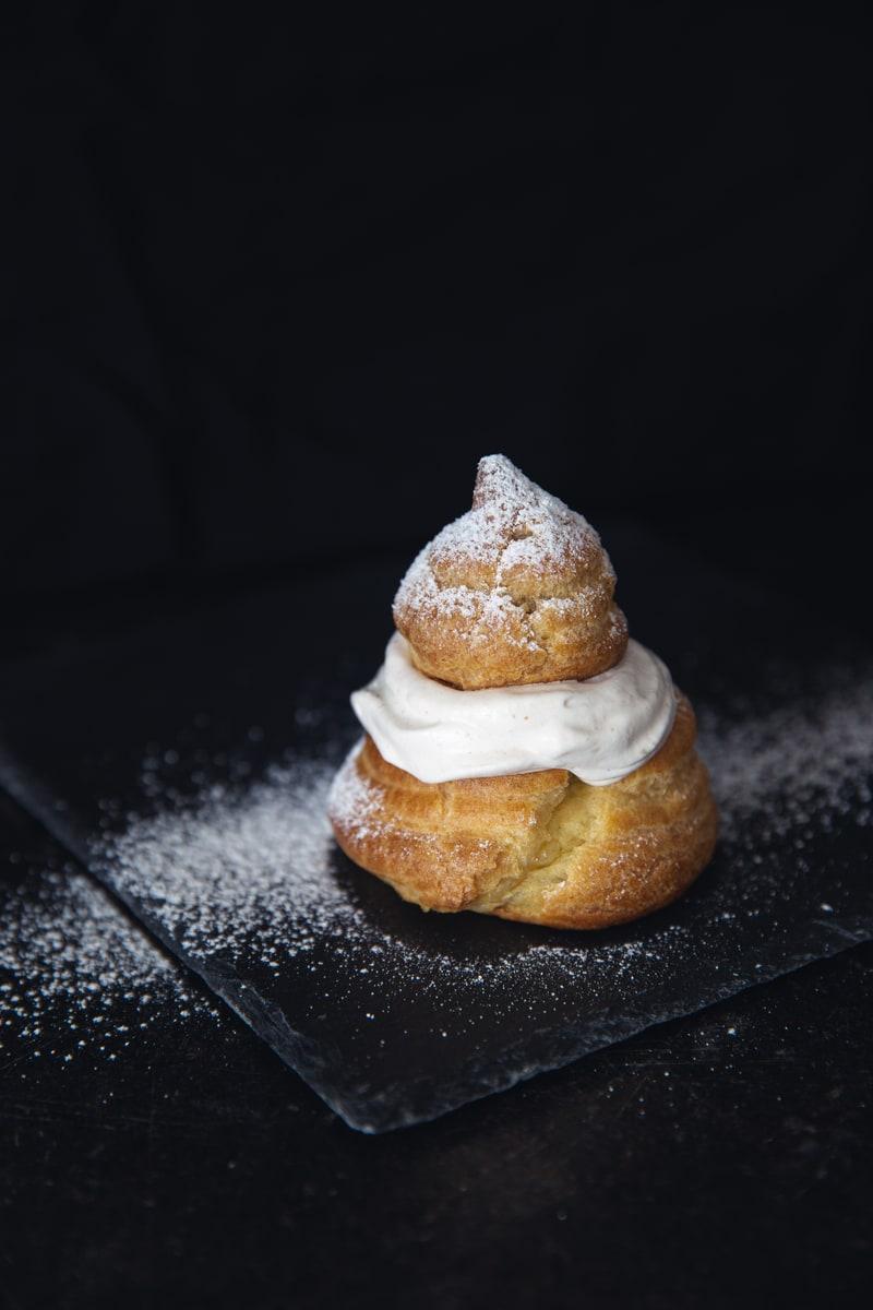 Photographie culinaire chou à la crème