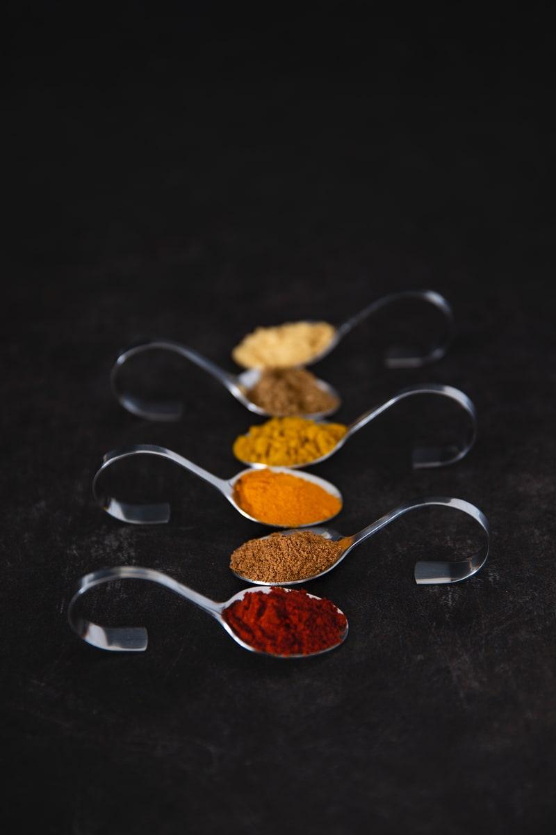 Photographie culinaire épices