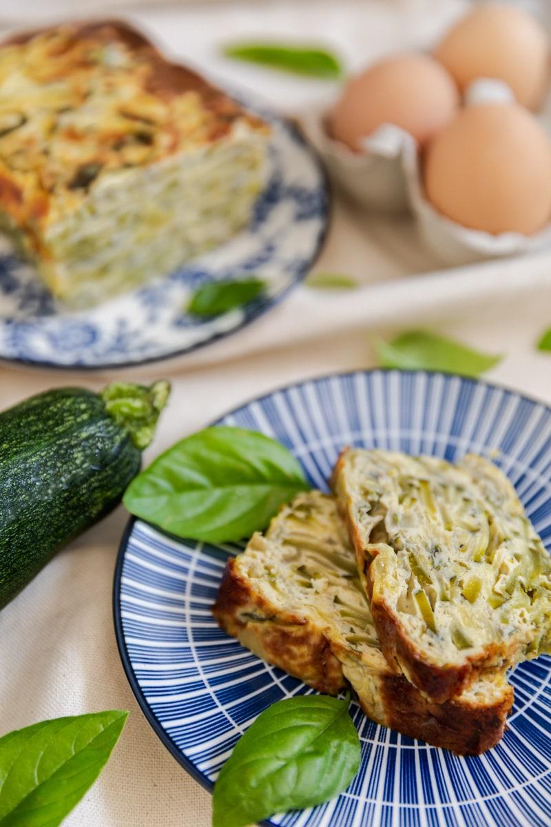 Photographie culinaire flan de courgette