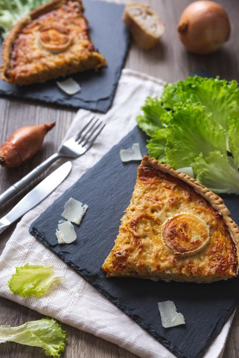 Photographie culinaire Tarte oignons chèvre